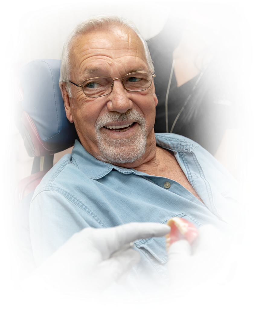 dentures patient smiling West Palm Beach, FL